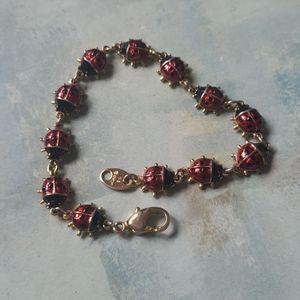 Avon enamel lady bugs bracelet